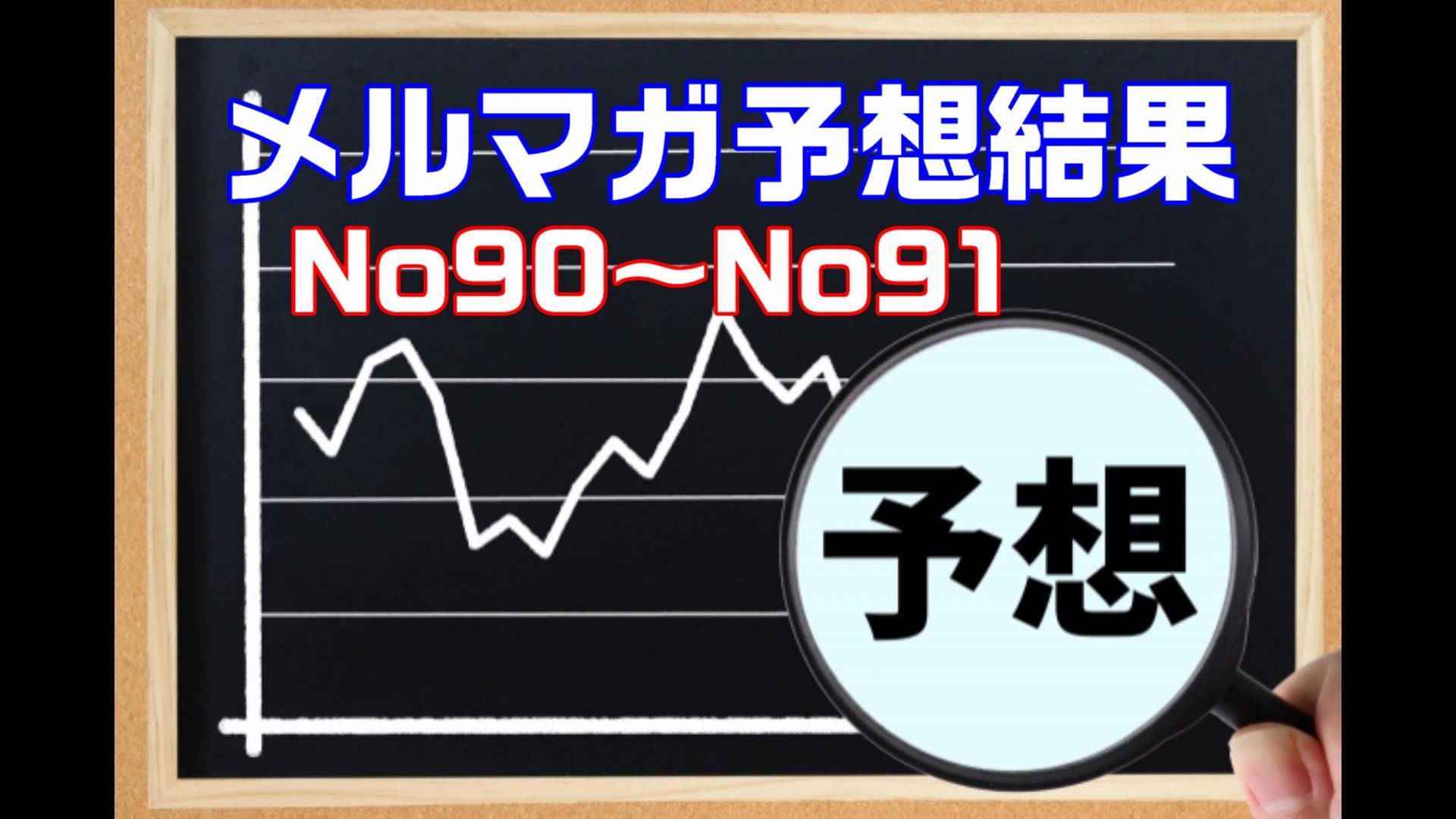 【メルマガの予想結果】メルマガNo90~No91結果
