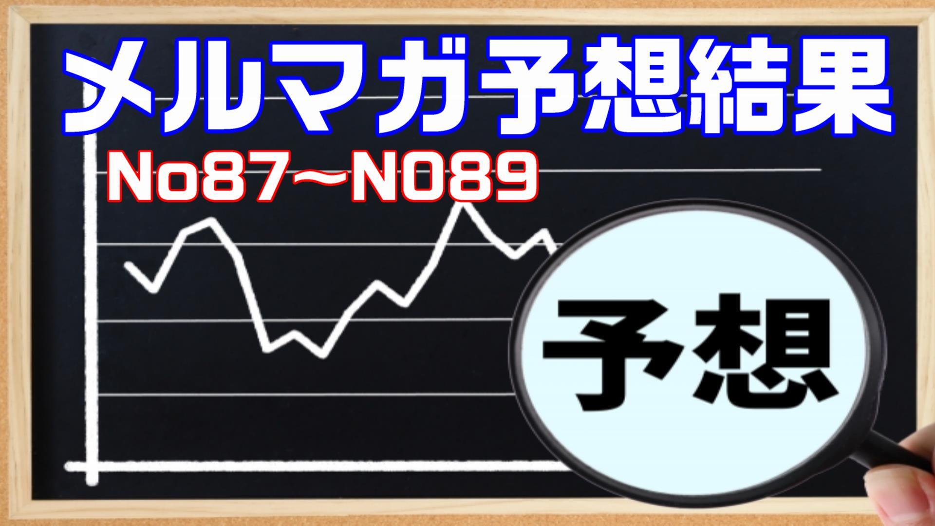 【メルマガの予想結果】メルマガNo87~No89結果